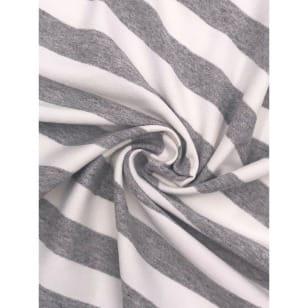 Viskose Jersey Streifen Stoff 2cmx2cm grau meliert Breite 160cm kaufen