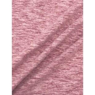 Jersey Baumwolle-Leinen uni meliert altrosa kaufen