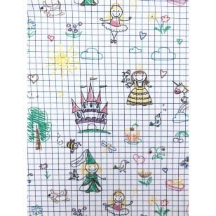Jersey Stoff Kinderstoff Skizze Breite 150cm ab 50cm kaufen