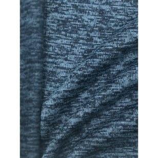 Strickstoff Strickfleece Stoff Fleece meliert marineblau kaufen