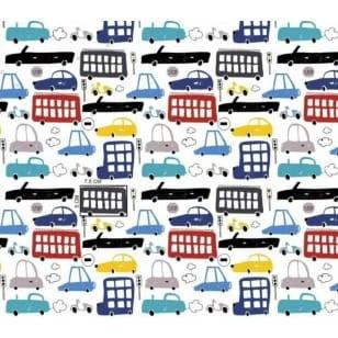Baumwollstoff Dekostoff Kinderstoff Autos Breite 160cm ab 50 cm kaufen