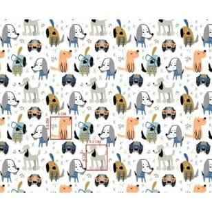Baumwollstoff Kinderstoff Hund Dog Breite 160cm ab 50cm kaufen