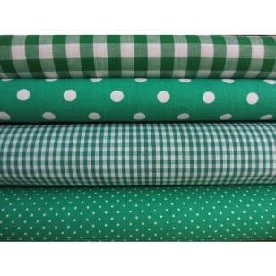 Stoffpaket in grün 4 Stoffstücke kaufen