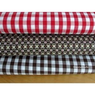 Stoffpaket rot, dunkelbraun, 3 Stoffstücke kaufen