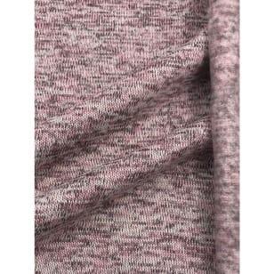 Strickstoff Strickfleece Stoff meliert rosa kaufen
