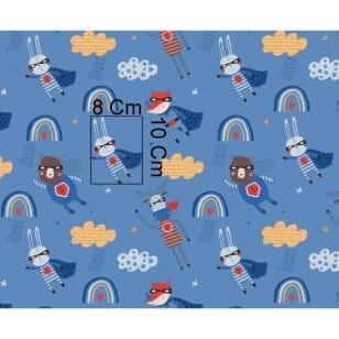 Baumwollstoff Kinderstoff Superhelden Breite 160cm ab 50 cm kaufen