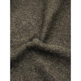 Walkstoff Boiled Wool Gekochter Wolle dunkelolive meliert Breite 140 cm kaufen