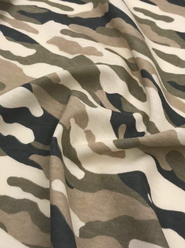 Jersey Interlock  Kinderstoff Camouflage Military  Breite 155cm ab 50 cm